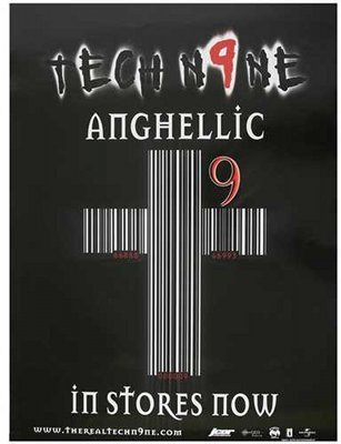 Tech N9ne - Autographed Anghellic Cross Poster 18 x 24