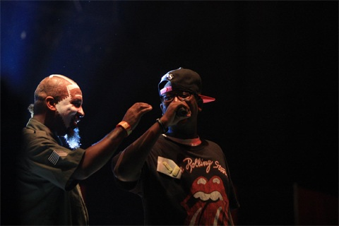 "Tech N9ne With His Son On Stage For ""This Ring"""