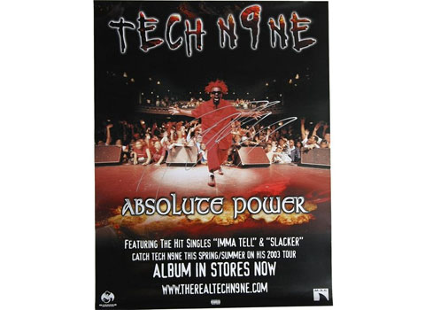 Tech N9ne Absolute Power Slacker Poster