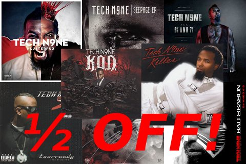 Tech N9ne Albums And EPs Half Off