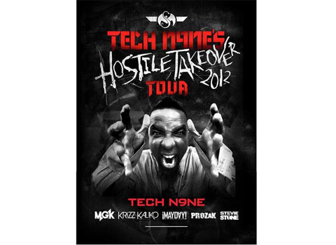 Tech N9ne Hostile Takeover 2012 Tour Poster