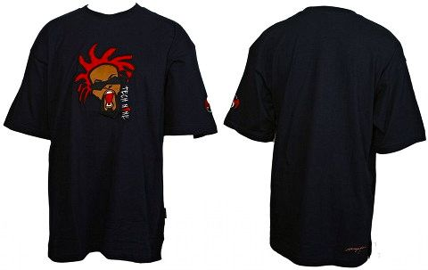 Tech N9ne - Navy Embroidered Face T-Shirt