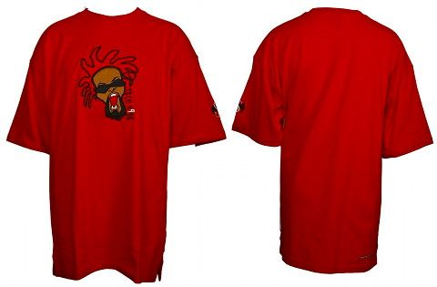 Tech N9ne - Red Embroidered Face T-Shirt