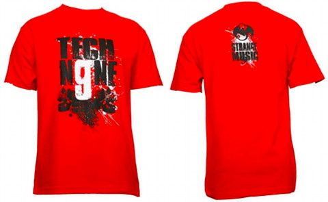 Tech N9ne - Red Skull Splatter T-Shirt