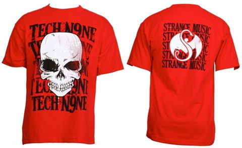 Tech N9ne - Red Skullstack T-Shirt