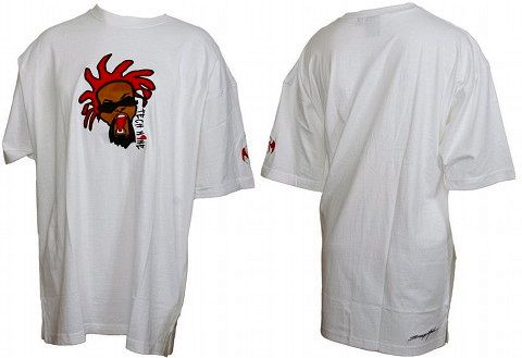 Tech N9ne - White Embroidered Face T-Shirt