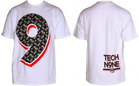 Tech N9ne - White Pattern 9 T-Shirt