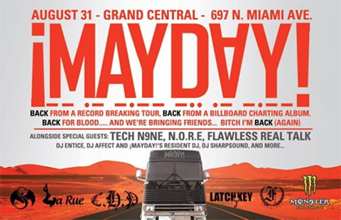 Tech N9ne Joins  ¡MAYDAY! For Miami Performance
