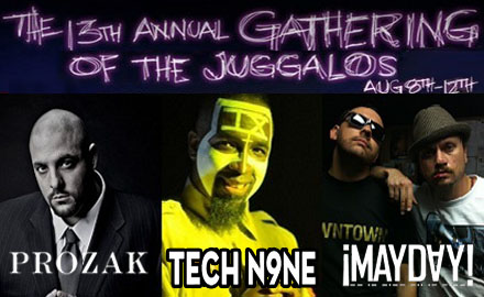 Tech N9ne, Prozak, And ¡MAYDAY! Live At The Gathering Of The Juggalos