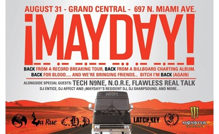 ¡MAYDAY! Homecoming With Tech N9ne, N.O.R.E., And Flawless August 31 – Miami,FL
