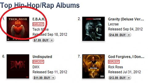"Tech N9ne's ""E.B.A.H."" Hits #1 On iTunes"