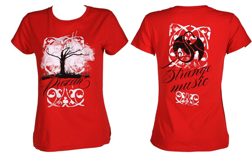 Prozak - Ladies Red Tree T-Shirt