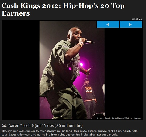 Tech N9ne On Forbes Cash Kings 2012