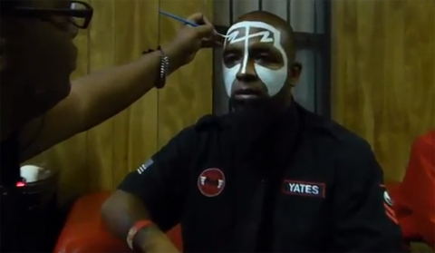 Tech N9ne Gets Painted Up By P.S. I'm Dope
