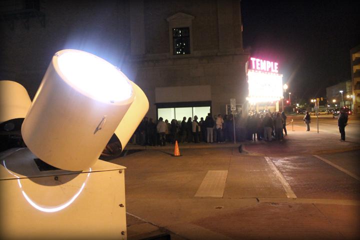 The line outside of the Temple Theater