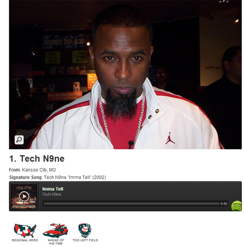 Complex Lists Tech N9ne As Most Slept-On Rapper Of All Time