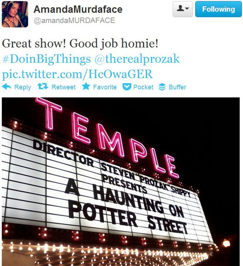 "Prozak's ""A Haunting On Potter Street"" Premiere - Reactions"