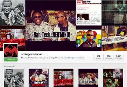 Strange Music Instagram