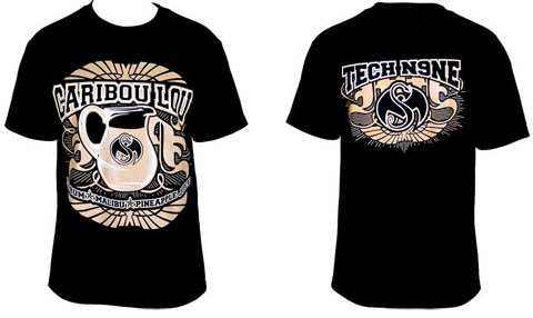 Tech N9ne - Black Caribou Lou 2012 T-Shirt