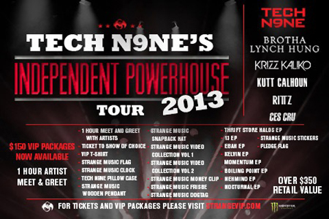 Tech N9ne's Independent Powerhouse Tour 2013