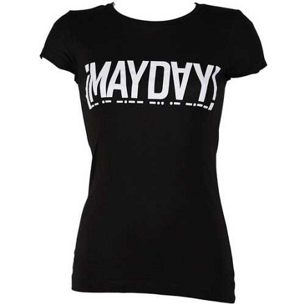 MayDay - Ladies Black T-Shirt Logo