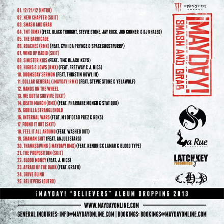 DOWNLOAD: ¡MAYDAY! 'Smash And Grab' Mixtape