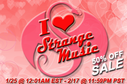 I Love Strange Music 50% Off Sale