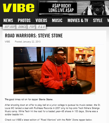 Stevie Stone Featured In Episode 1 Of VIBE Magazine's 'Road Warriors' Series