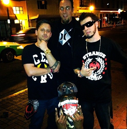 Director Justin Marmorstein, Strange Music Vice President Dave Wiener and CES Cru
