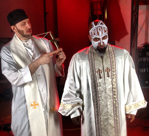 Tech N9ne And R.A. The Rugged Man On Set