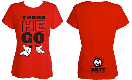 Kutt Calhoun - Ladies Red There He Go T-Shirt