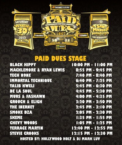Paid Dues Schedule - Paid Dues Stage