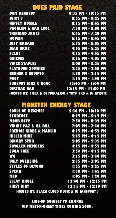Paid Dues 2013 Schedule
