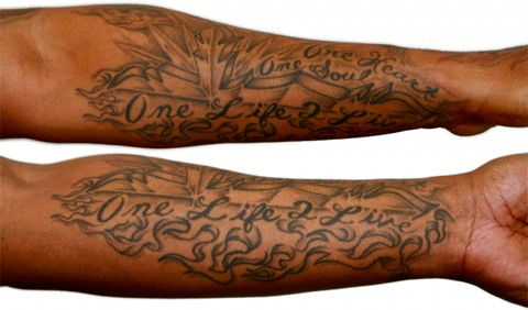 Kutt Calhoun - Right forearm - One Life To Live