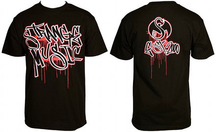 Strange Music - Black Graffiti Drip T-Shirt