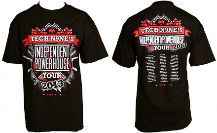 Strange Music - Black Independent Powerhouse Tour T-Shirt