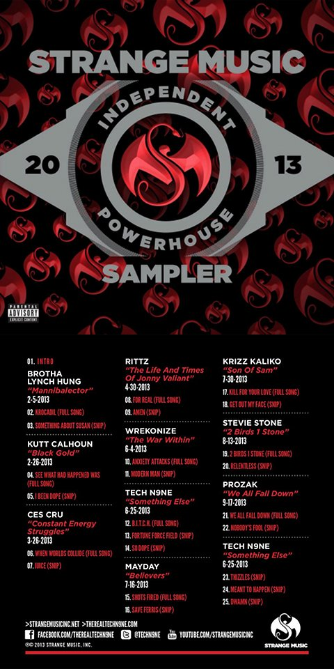 Strange Music - Independent Powerhouse 2013 Sampler