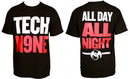 Tech N9ne - Black All Day - All Night T-Shirt