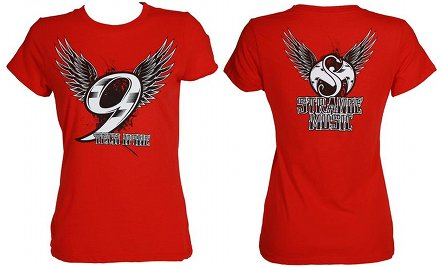 Tech N9ne - Ladies Red Metallic T-Shirt