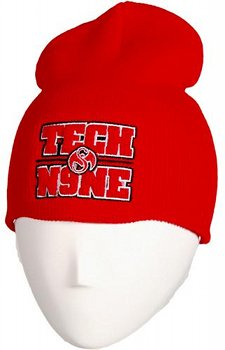Tech N9ne - Red Emblem Skull Cap