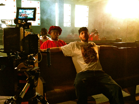 R.A. On Set With Krizz Kaliko