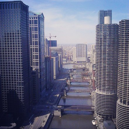 View From CES's Hotel Room, Downtown Chicago