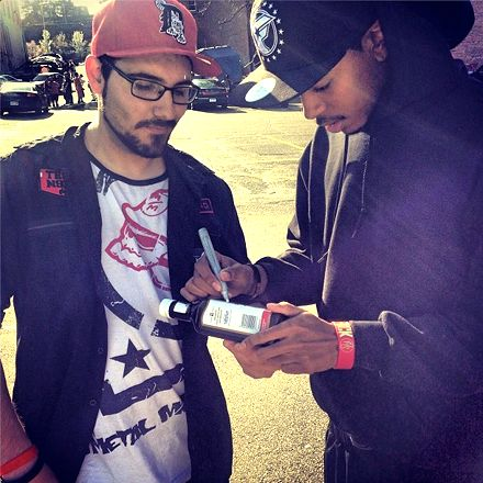 """Trizz Signs A Bottle Of A-1 Sauce (""""MDK"""" Reference)"""