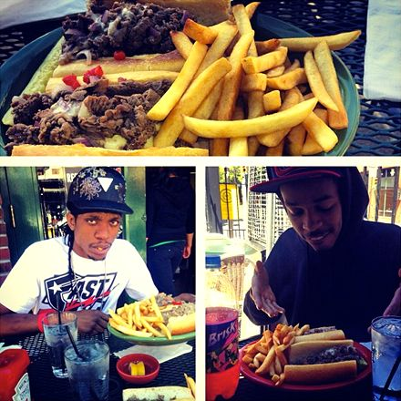 Godemis and Trizz - Philly Cheesesteak Eating
