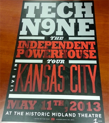 Tech N9ne Limited Edition Kansas City Poster