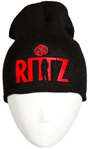 Rittz - Black With Red Embroidered Skull Cap