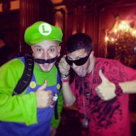 Ubiquitous and Fan Dressed As Luigi