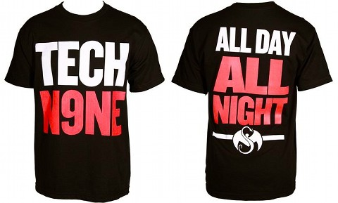 Tech N9ne - Black All Day All Night T-Shirt