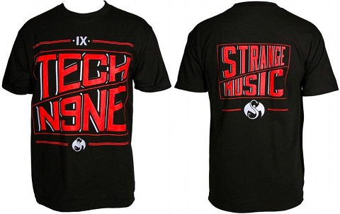 Tech N9ne Black Angled T-Shirt