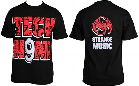 Tech N9ne - Black Filled In T-Shirt3
